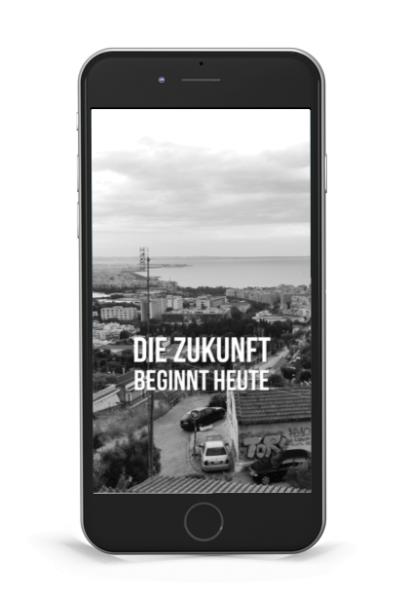 """Hintergrund """"Die Zukunft beginnt heute"""" Ocean View"""