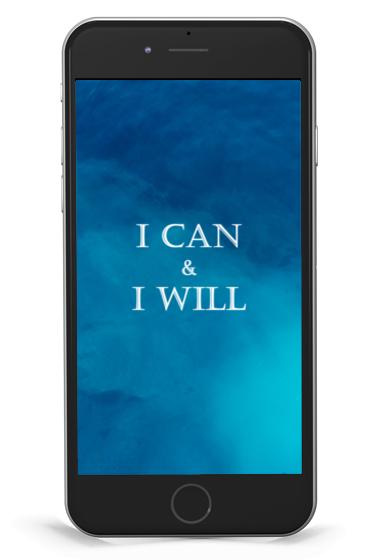 "Hintergrund ""I can & I will"" Blue"