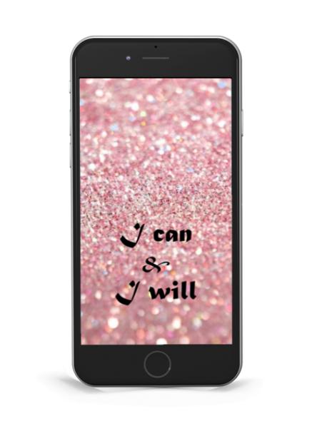 """Hintergrund """"I can & I will"""" Pink Jewels"""